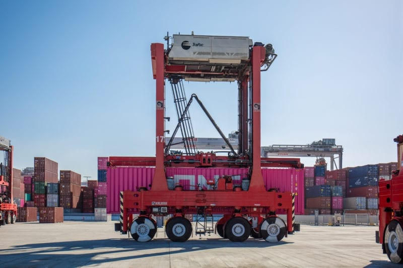 TraPac Los Angeles Automated Straddle Carrier