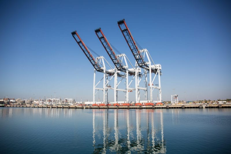 TraPac Los Angeles Ship-to-Shore Cranes