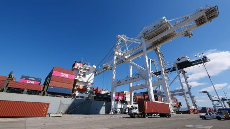 TraPac Oakland Ship-to-Shore Crane