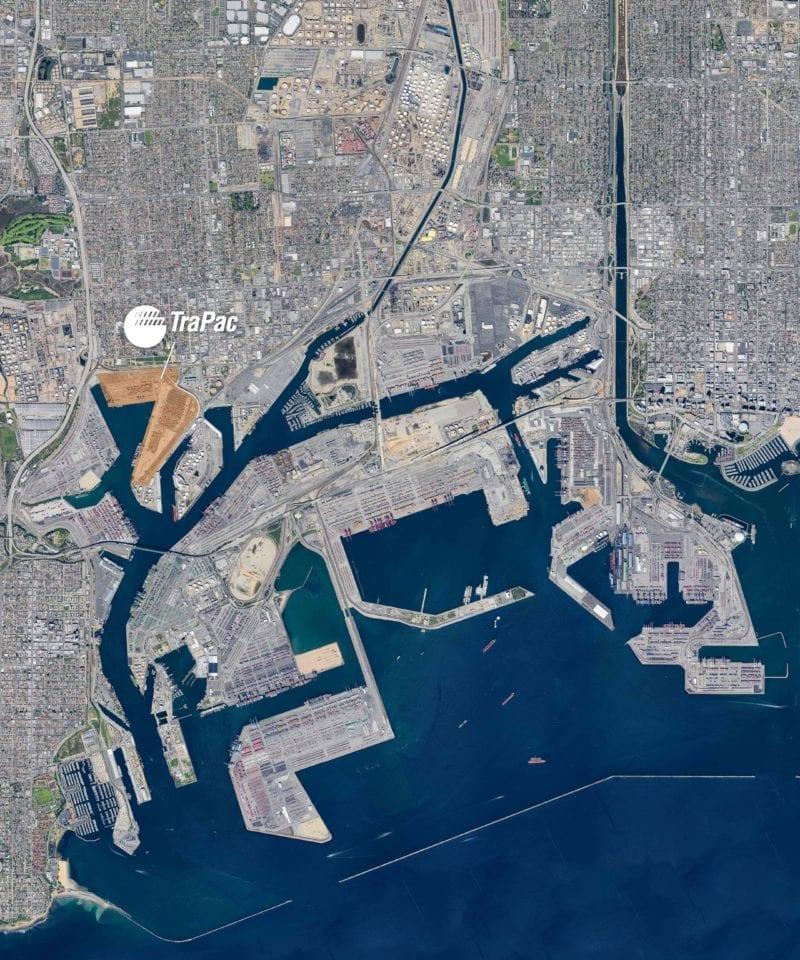 TraPac Los Angeles Aerial Map